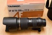Объектив  TAMRON SP AF 70-200 mm F2/8  Di LD(F)MACRO